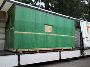 Crates in Lorry